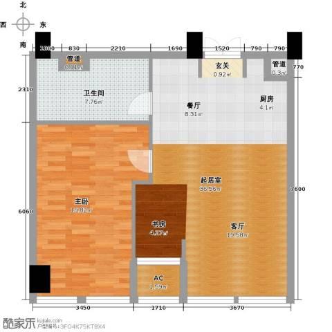 中城国际广场1室0厅1卫0厨92.00㎡户型图