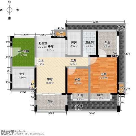 金水湾2室0厅1卫1厨94.99㎡户型图