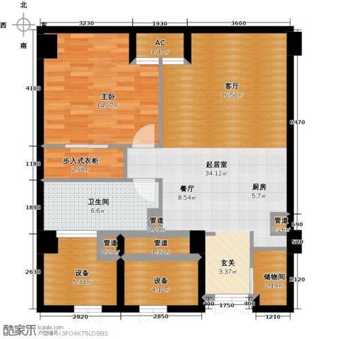 中城国际广场1室0厅1卫0厨88.00㎡户型图