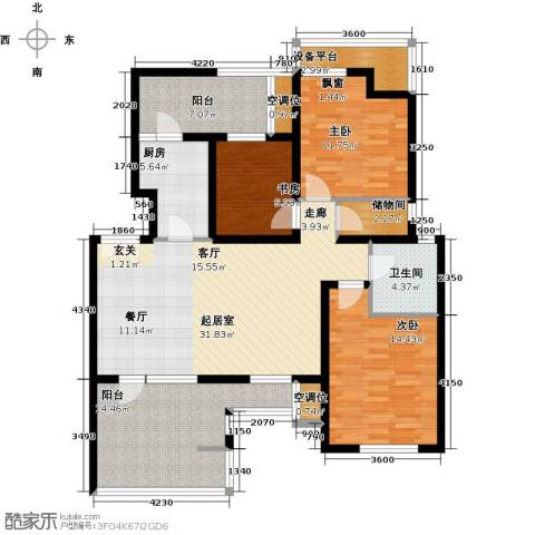 景瑞阳光尚城3室0厅1卫1厨103.47㎡户型图