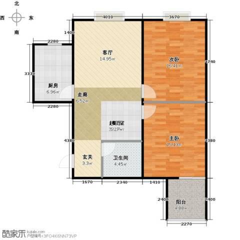 锦业观墅2室0厅1卫1厨83.00㎡户型图