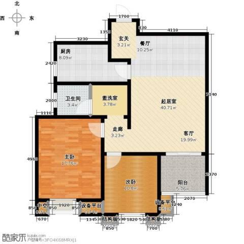 西安公馆2室0厅1卫1厨125.00㎡户型图