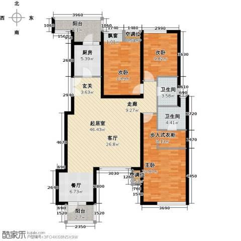 景瑞阳光尚城3室0厅2卫1厨161.00㎡户型图