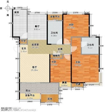 无锡港龙城市商业广场3室0厅2卫1厨115.00㎡户型图