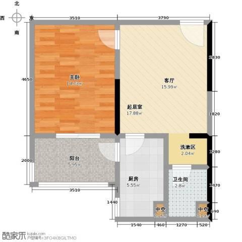 华富世家1室0厅1卫1厨54.00㎡户型图