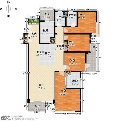 馨湖园4室0厅3卫1厨199.00㎡户型图