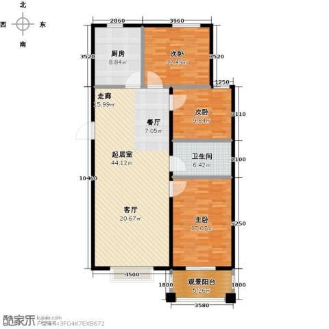 天元府邸3室0厅1卫1厨115.00㎡户型图