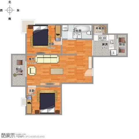 丰泽湖山庄2室1厅1卫1厨73.00㎡户型图