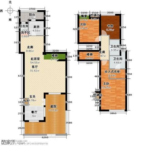 景瑞阳光尚城3室0厅3卫1厨209.00㎡户型图