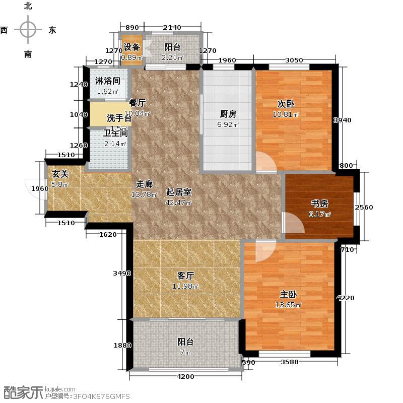 第五郡126.00㎡第五郡户型图D23室2厅(2/15张)户型3室2厅1卫