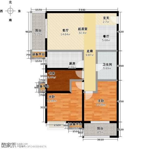嘉禾广运3室0厅1卫1厨111.00㎡户型图