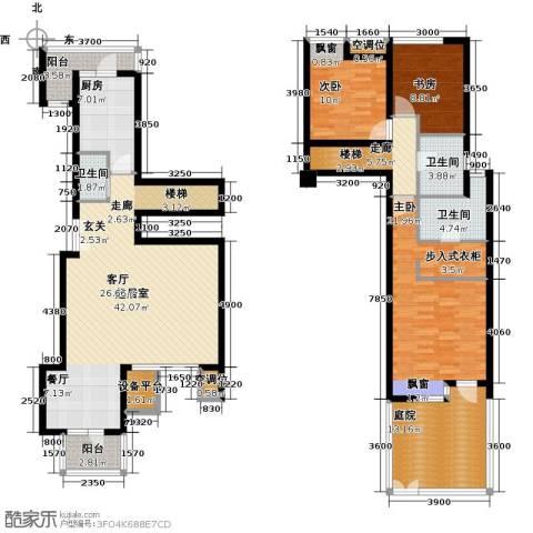 景瑞阳光尚城3室0厅3卫1厨187.00㎡户型图