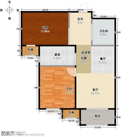 中建城2室0厅1卫1厨64.82㎡户型图