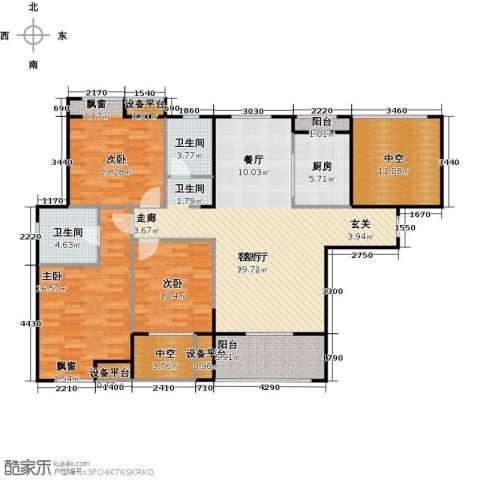 紫阳楚世家3室1厅2卫1厨118.82㎡户型图