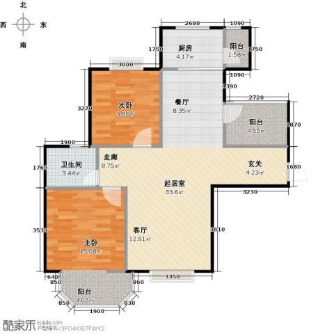 泰和世家2室0厅1卫1厨93.00㎡户型图