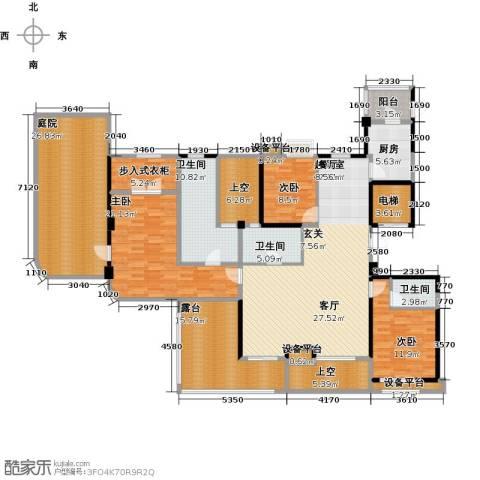 昆承湖国际花园3室0厅3卫1厨197.00㎡户型图