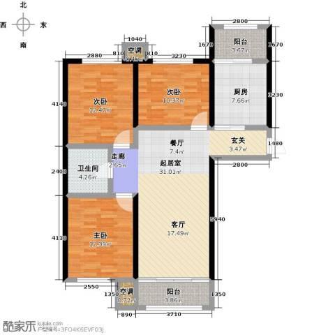 荷花盛世二期3室0厅1卫1厨99.00㎡户型图