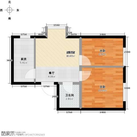 圣济经典・家园2室0厅1卫1厨53.00㎡户型图