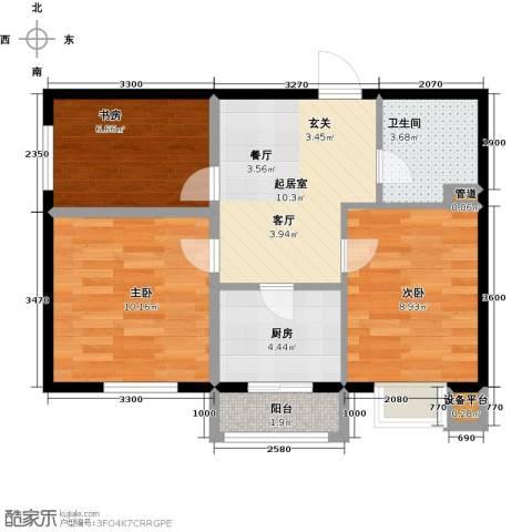 圣济经典・家园3室0厅1卫1厨69.00㎡户型图