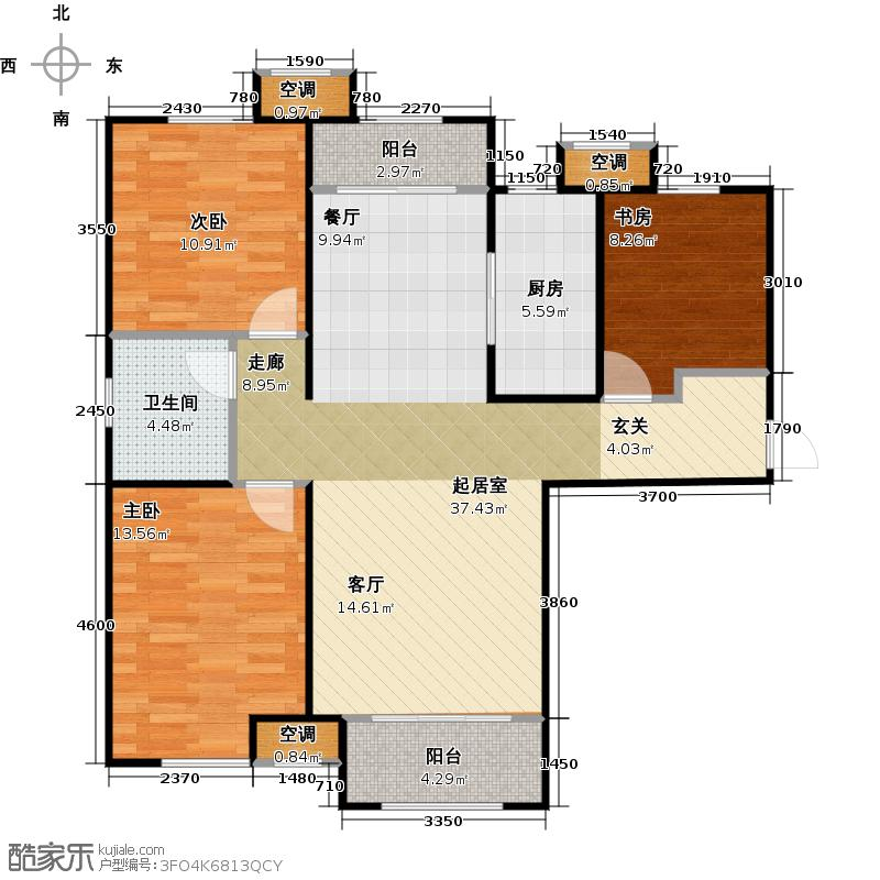 中建城高层B2 三室两厅一卫 建筑面积约:118平方米户型3室2厅1卫