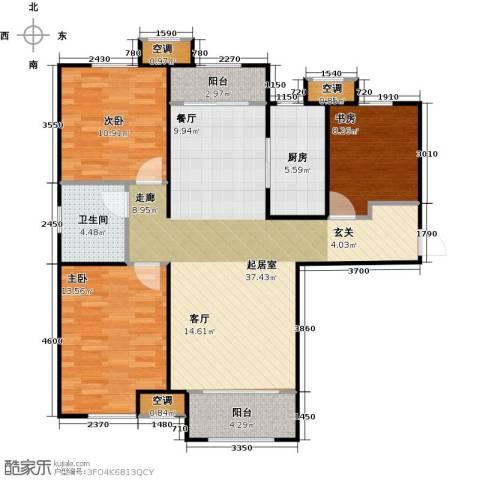 中建城3室0厅1卫1厨90.17㎡户型图