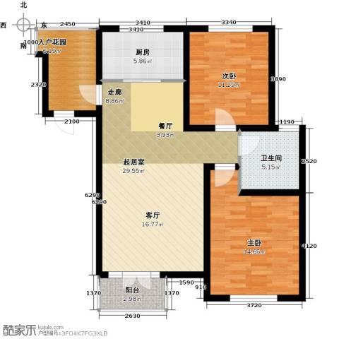 天嘉湖花园2室0厅1卫1厨108.00㎡户型图