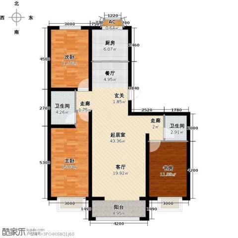 公元大道3室0厅2卫1厨124.00㎡户型图