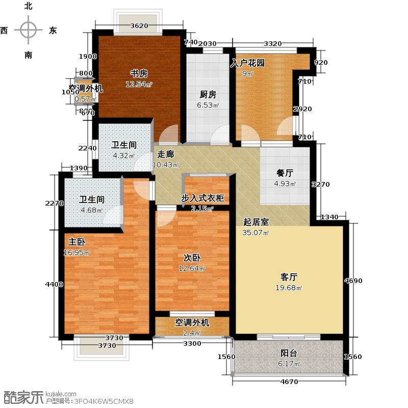 东森花园130.00㎡房型: 三房; 面积段: 130 -140 平方米; 户型