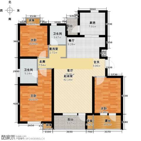 上城雅园3室0厅2卫1厨126.00㎡户型图