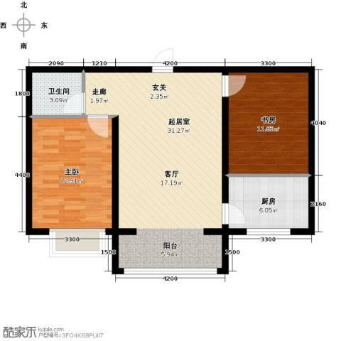 公元大道2室0厅1卫1厨82.00㎡户型图