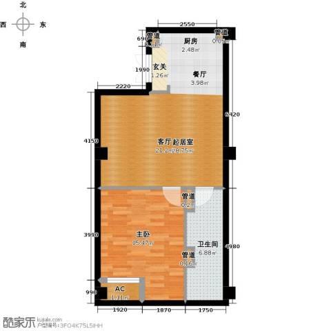 中城国际广场1室0厅1卫0厨72.00㎡户型图