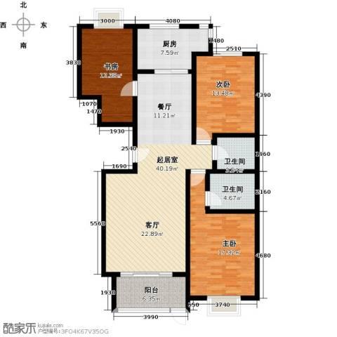 巨华世纪城3室0厅2卫1厨133.00㎡户型图