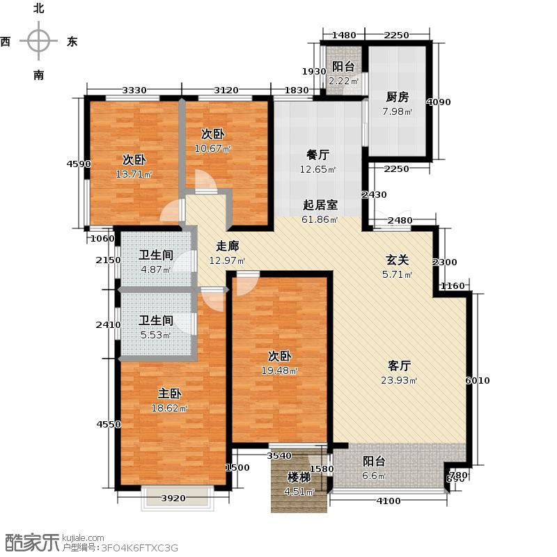 亿利傲东国际181.00㎡首层户型4室2厅2卫LL