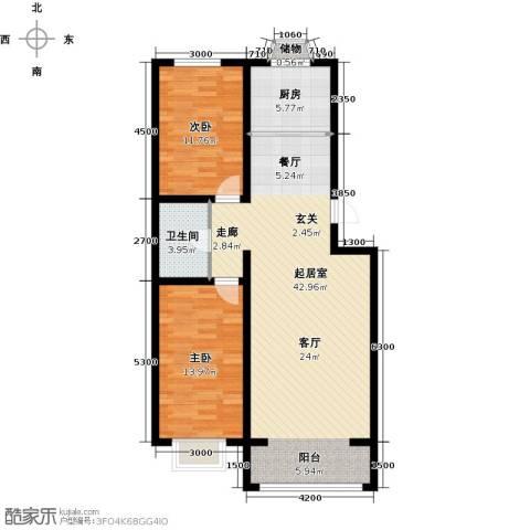 公元大道2室0厅1卫1厨101.00㎡户型图