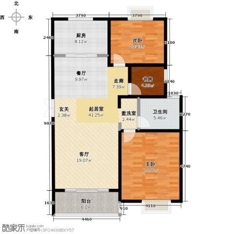 新城府翰苑3室0厅1卫1厨104.00㎡户型图