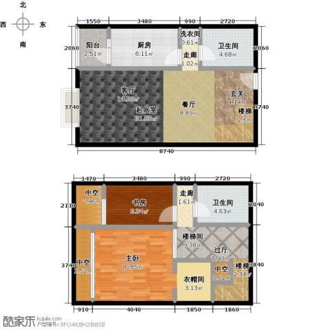 天通・公园里2室0厅2卫1厨87.93㎡户型图