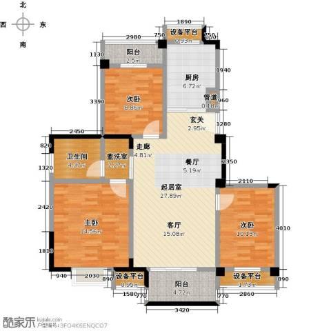 东渡伊顿小镇3室0厅1卫1厨99.00㎡户型图