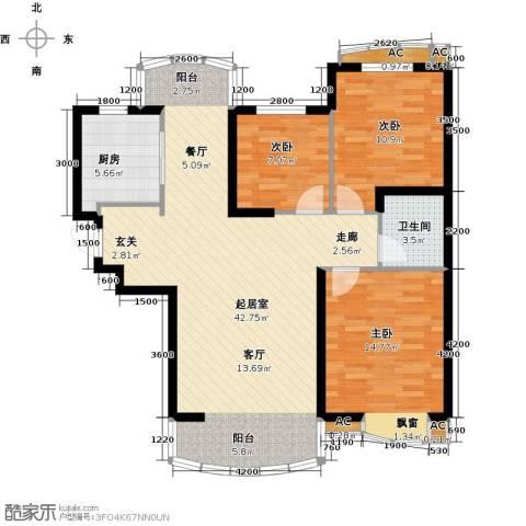 俪晶阁3室0厅1卫1厨97.38㎡户型图
