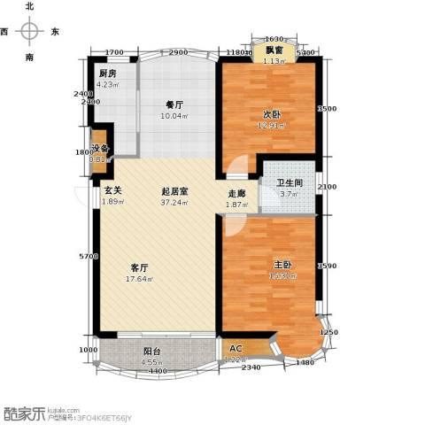 俪晶阁2室0厅1卫1厨90.89㎡户型图