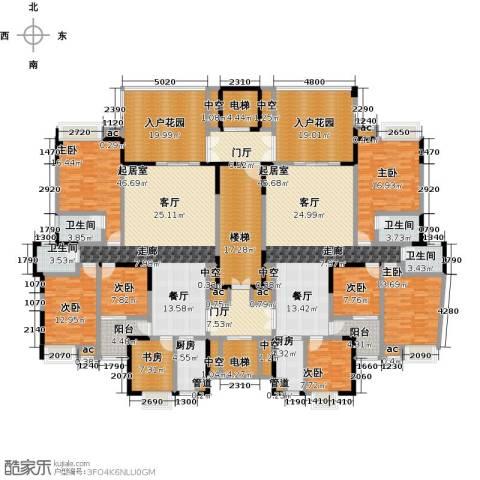 水岸花城8室0厅4卫2厨353.07㎡户型图