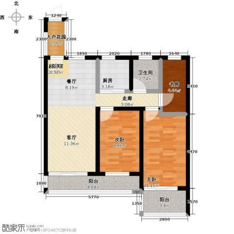 珍珠名邸3室0厅1卫1厨76.00㎡户型图