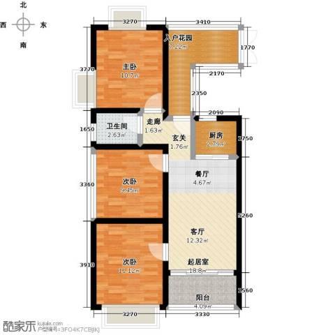 珍珠名邸3室0厅1卫1厨79.00㎡户型图