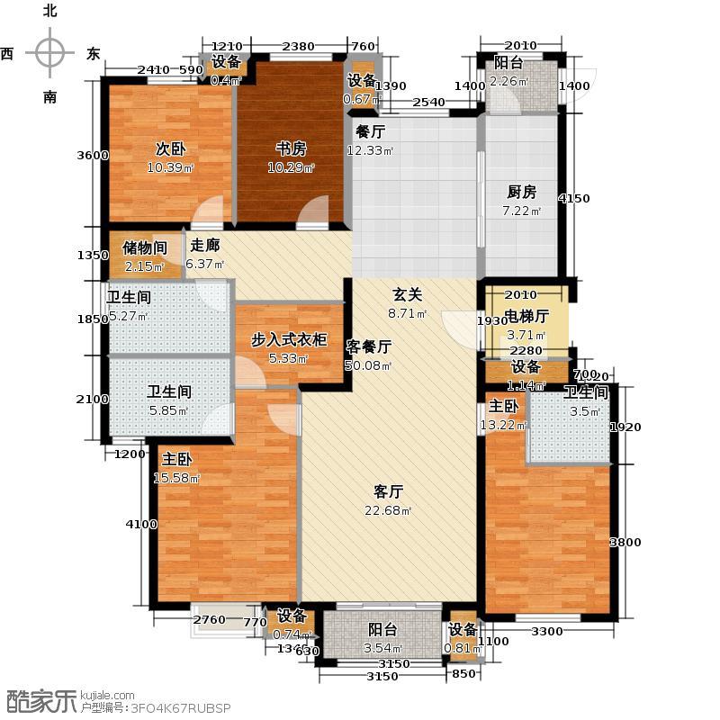 君和广场182.00㎡四室两厅三卫户型4室2厅3卫