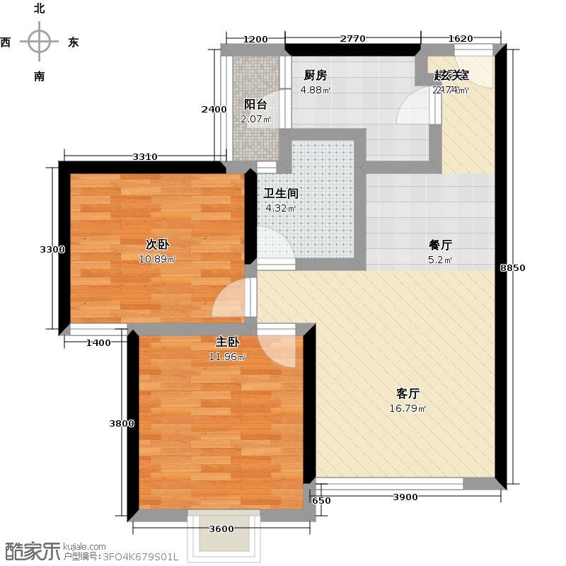 智慧龙城龙憬苑E3户型四室两厅两卫户型