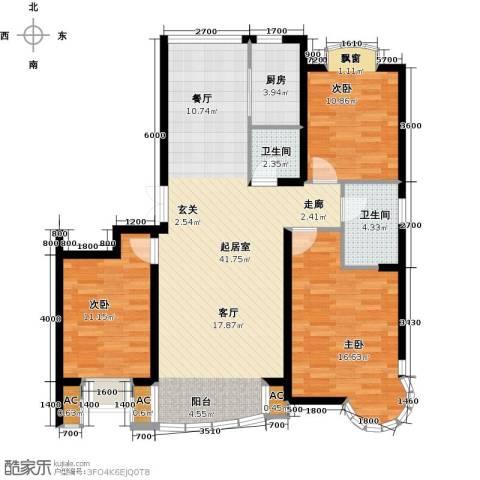 俪晶阁3室0厅2卫1厨104.74㎡户型图