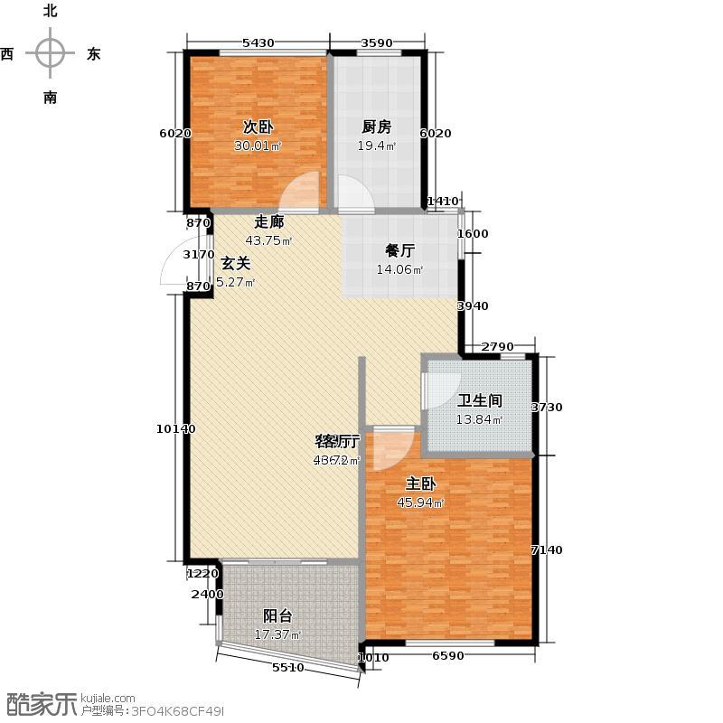 嘉凯城时代城二期东方龙域252.00㎡洋房H2-9户型3室2厅2卫