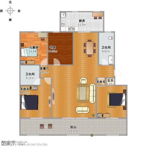 北京2室1厅2卫1厨197.00㎡户型图