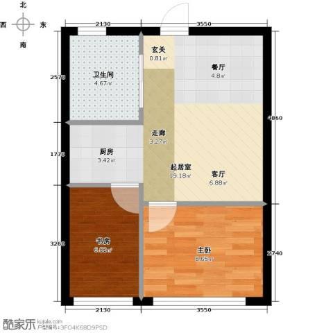 海派优座2室0厅1卫0厨54.00㎡户型图