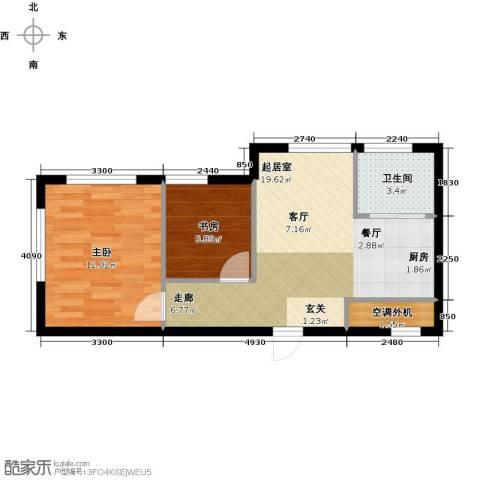 海派优座2室0厅1卫0厨66.00㎡户型图