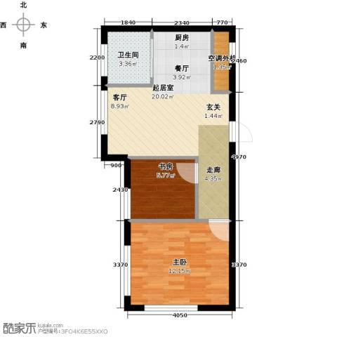 海派优座2室0厅1卫0厨60.00㎡户型图